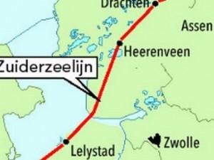 Zuiderzeespoorlijn provincie Fryslân